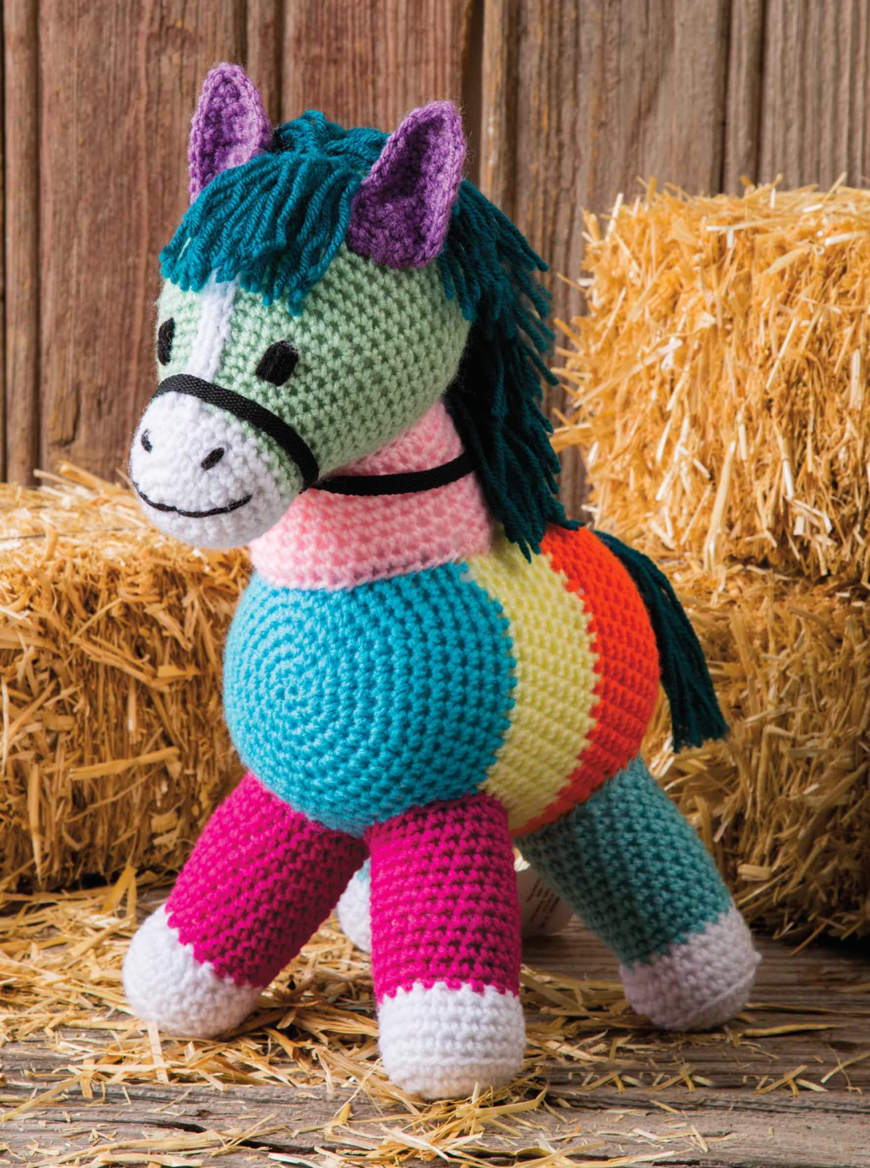 Sleeping unicorn pony crochet pattern - Amigurumi Today | 2372x1767