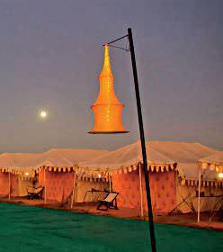 Luxury tents set up at Dhordo village.