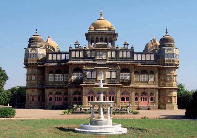 The grand Vijay Vilas Palace