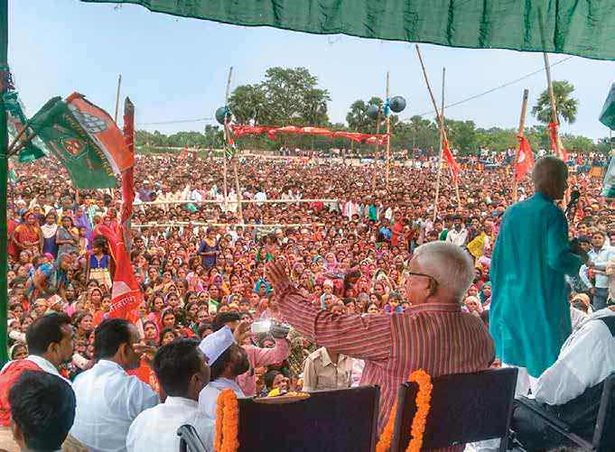 Grand Ally Laloo campaigning in Minapur in Muzaffarpur