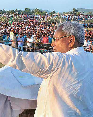 Aaj ka CM Nitish addressing a rally in Rohtas