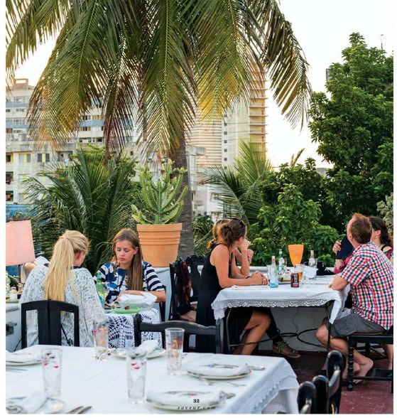 On the roof of the paladar Atelier, run by Niuris Higueras, the crowds come for icy-cold daiquiris and a constantly hanging menu of Cuban classics and innovative Continental fare.