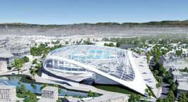 Artists renderings of the 80,000 seat football stadium Kroenke plans to build in Inglewood.