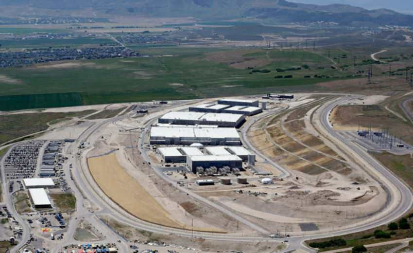 The National Security Agency's Utah Data Center, south of Salt Lake City. Keeping the center's servers from overheating could require almost 2 million gallons of water a day.