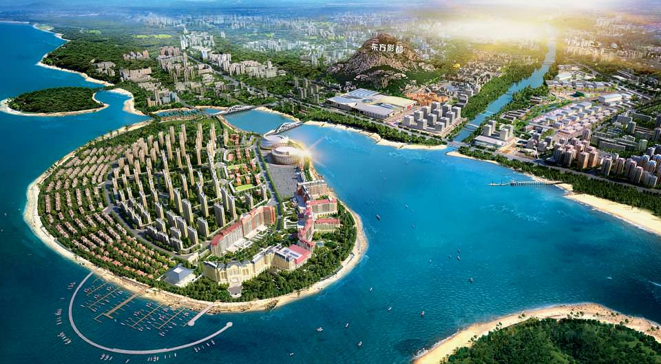 Qingdao Oriental Movie Metropolis, backed by Wang Jianlin will include one of the worlds largest movie-production facilities, a theme park, a 300-berth yacht club, and much more.