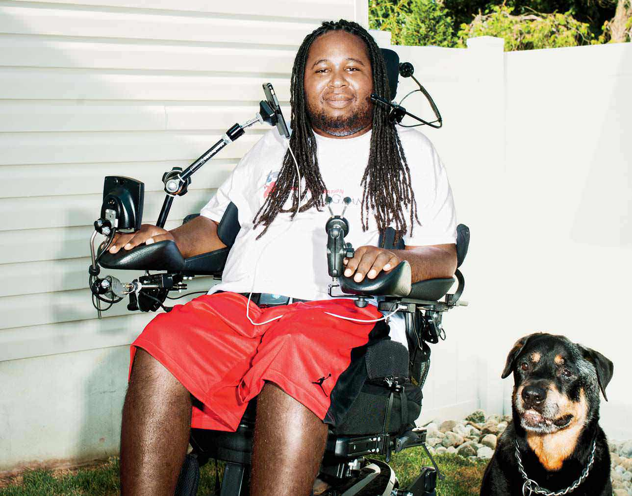 LeGrand has found endless ways to channel his energy: through book ideas, his radio shows and his dog, King.