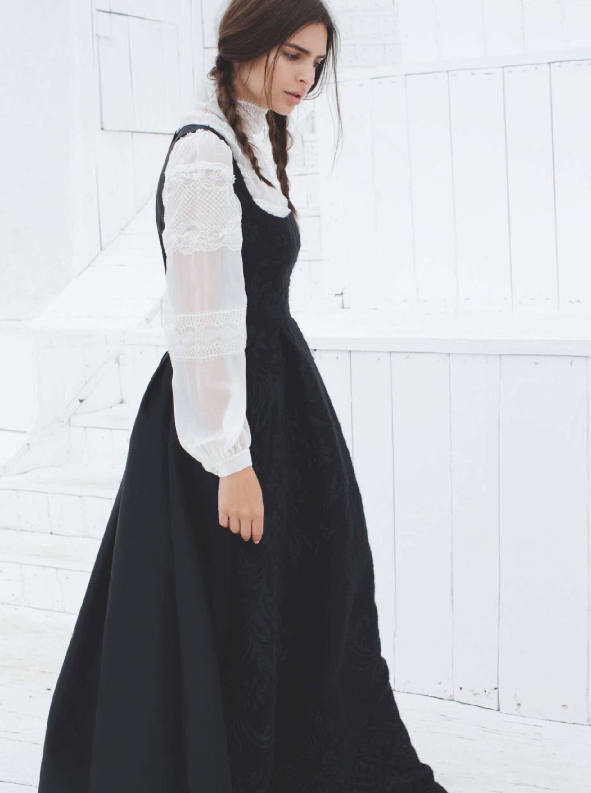 Dress, 1,560, and blouse, 780, both Alberta Ferretti