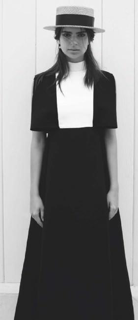 Dress, 2,175, Valentino (valentino.com); earring, 565, Delfina Delettrez (020 7629 5550), hat, stylists own