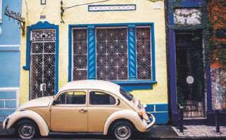 A typical VW-clad street near Salvadors Pelourinho quarter, now a World Heritage Site and hub for Afro-Brazilian culture.