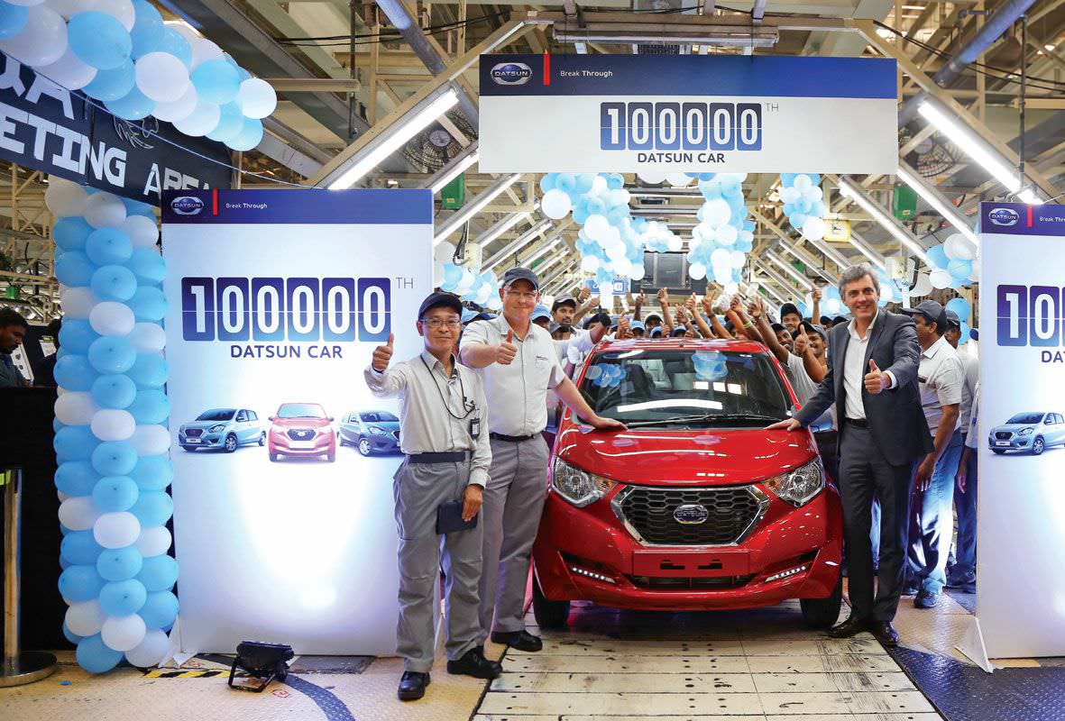 Nissan Rolls Out 100 000th Datsun Car From Chennai Plant