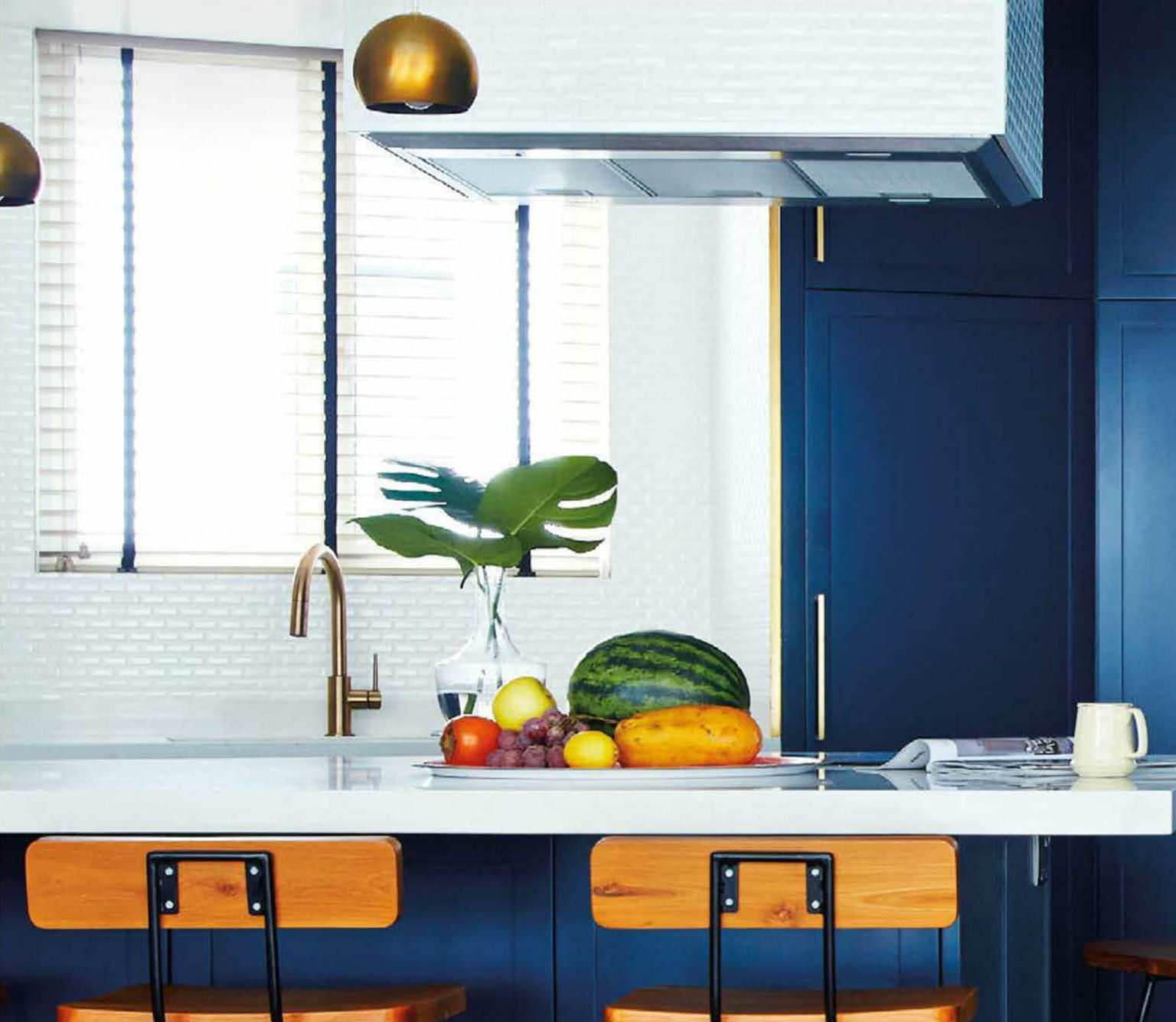 Singapore Apartment Is Black And Blue And Bold All Over