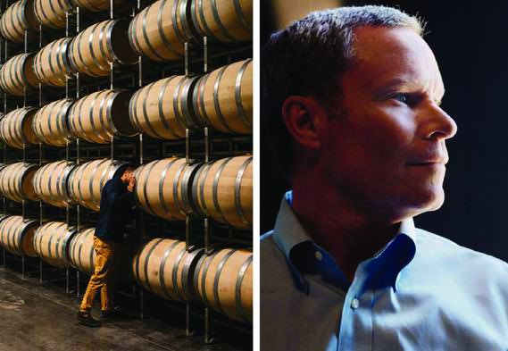 The wine ages for two years in American oak barrels, then spends 15 to 20 months more in bottles; executive VP Tim Duncan oversees sales.