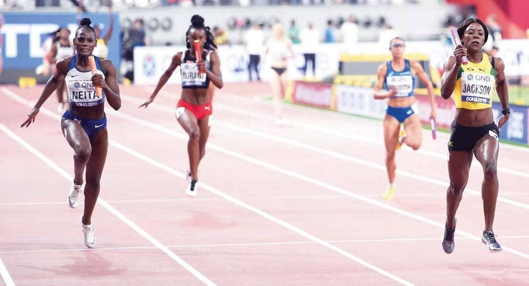 Jamaica Win As Dina Claims Third Medal