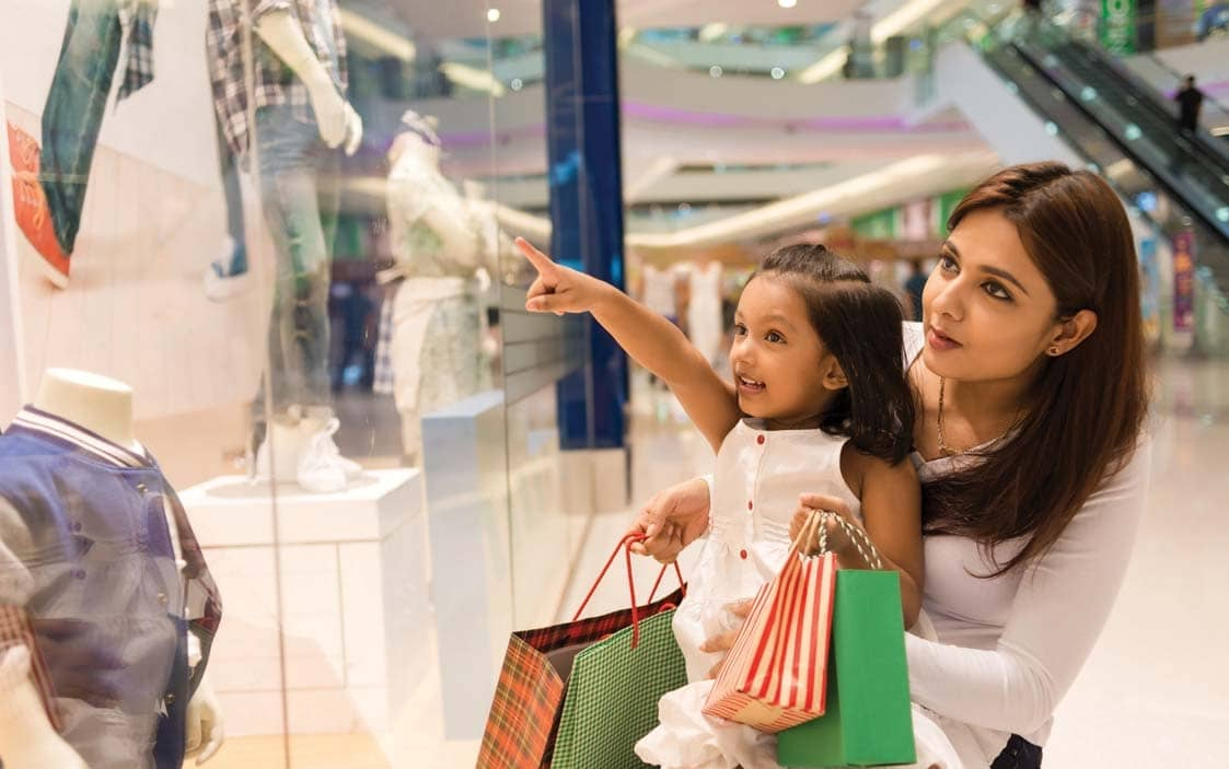 CONVERSIONS & OCCUPANCY AVERAGING 75% IN MALLS; GROCERY, ELECTRONICS, ATHLEISURE, KIDSWEAR, PERSONAL CARE & FOREIGN FAST FOOD DRIVE SALES