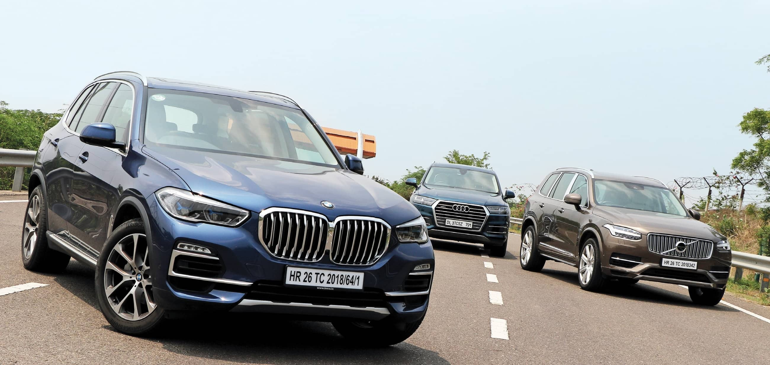 BMW X5 Vs Volvo XC90 Vs Audi Q7