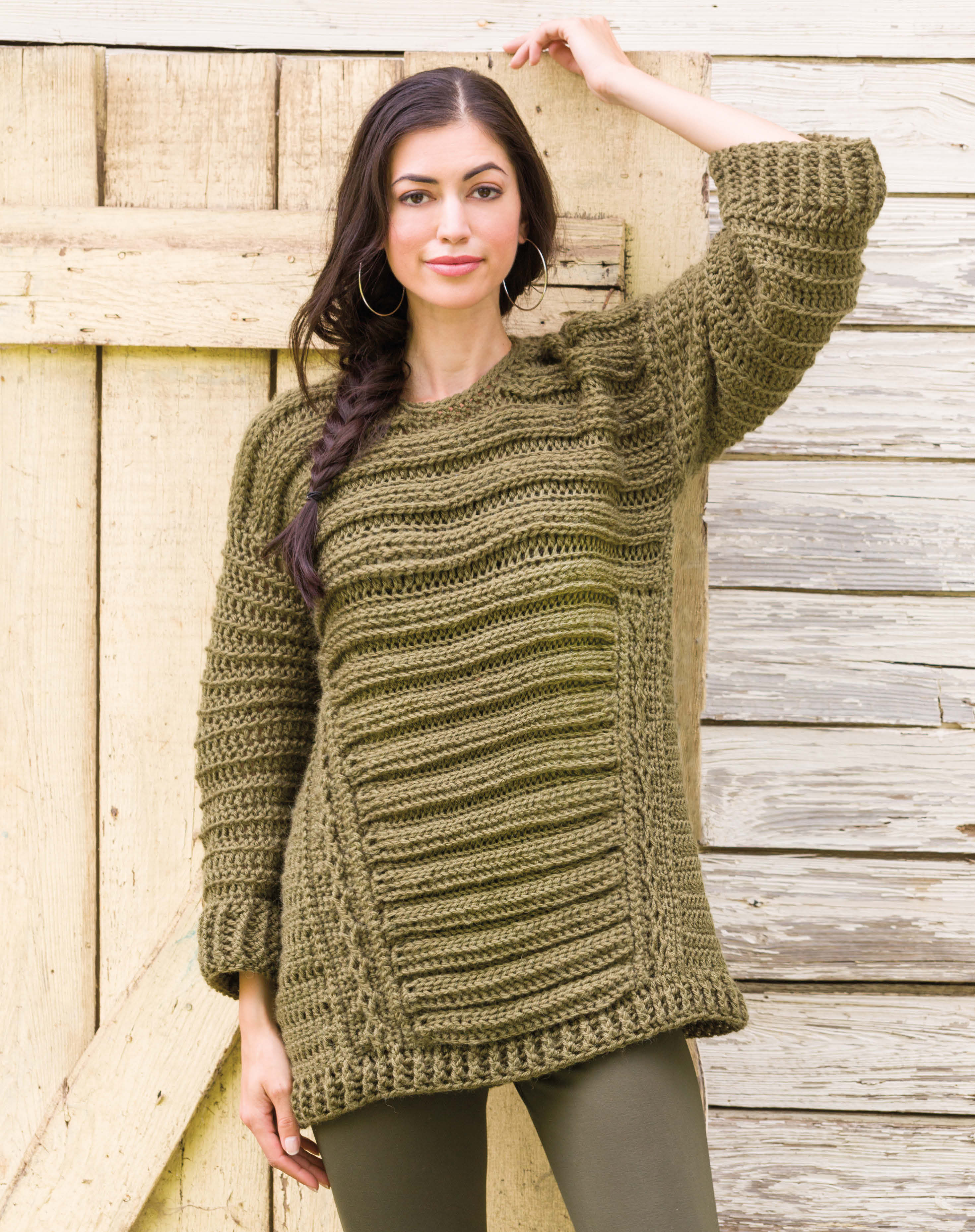Oversize Run-Around Sweater