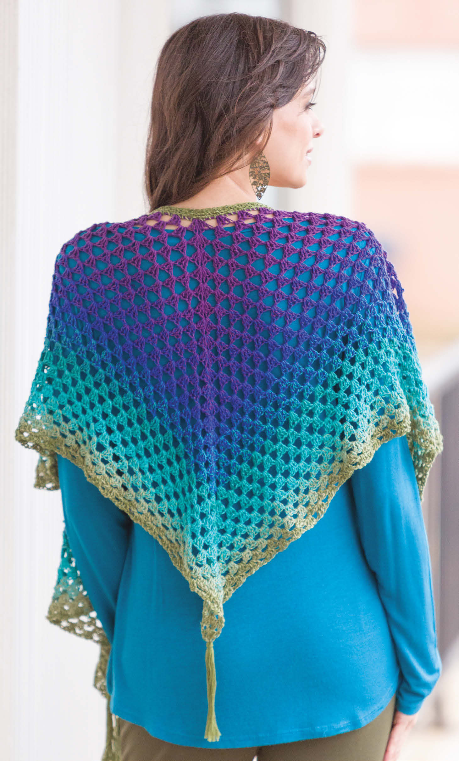 Give It a Whirl Tassel Shawl