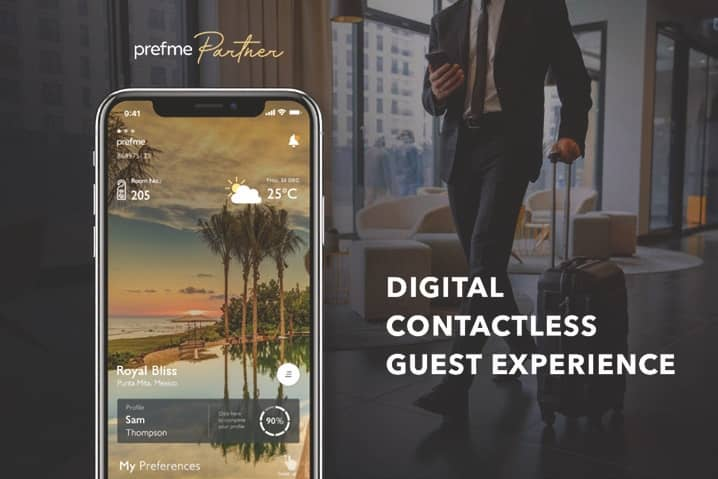 PREFME PARTNER, THE WORLD'S FIRST ALL-IN-ONE CONTACTLESS HOSPITALITY SOLUTION