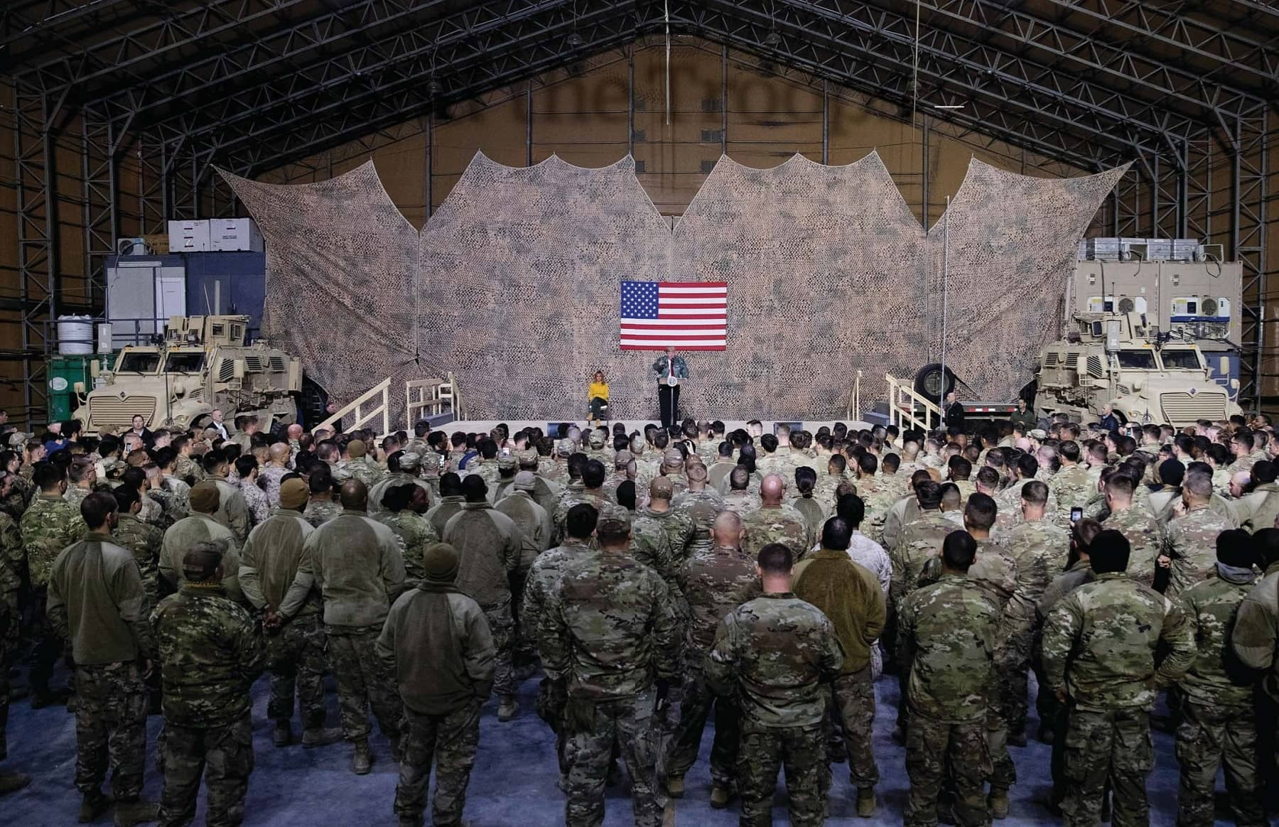 Trump And The Troops