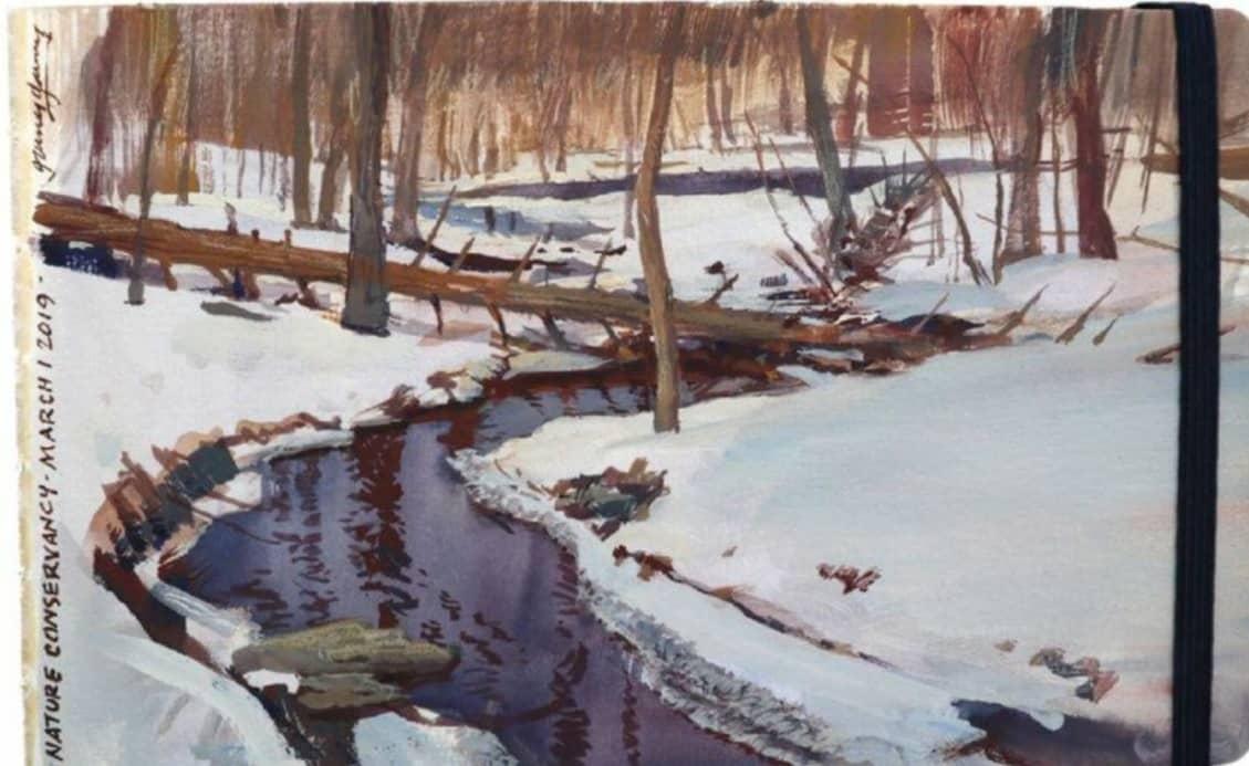 Painting Snow Scenes in Gouache