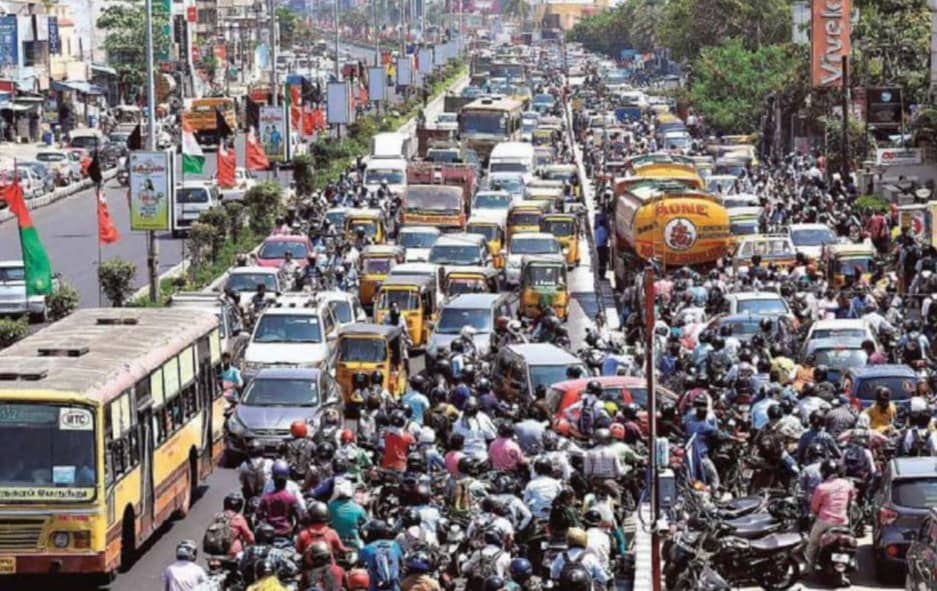 City's Traffic Turns Chaotic As Political Parties Hit Campaign Trail