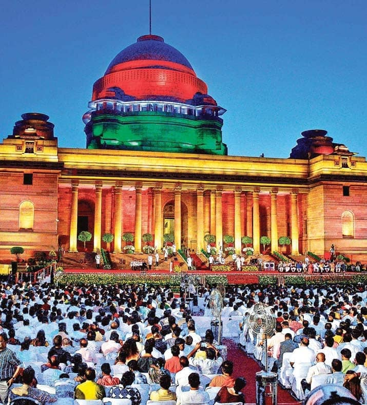 Modi Takes Oath With 57 Ministers At Glittering Event
