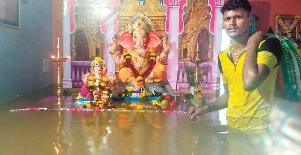 Rain Plays Spoilsport, Ruins Dungi Villagers' Ganeshotsav Get-together