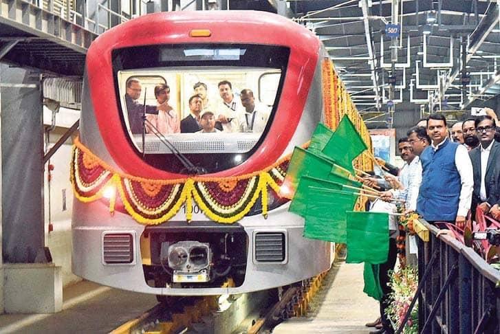 CM Flags Off Metro Line 1 In Navi Mumbai