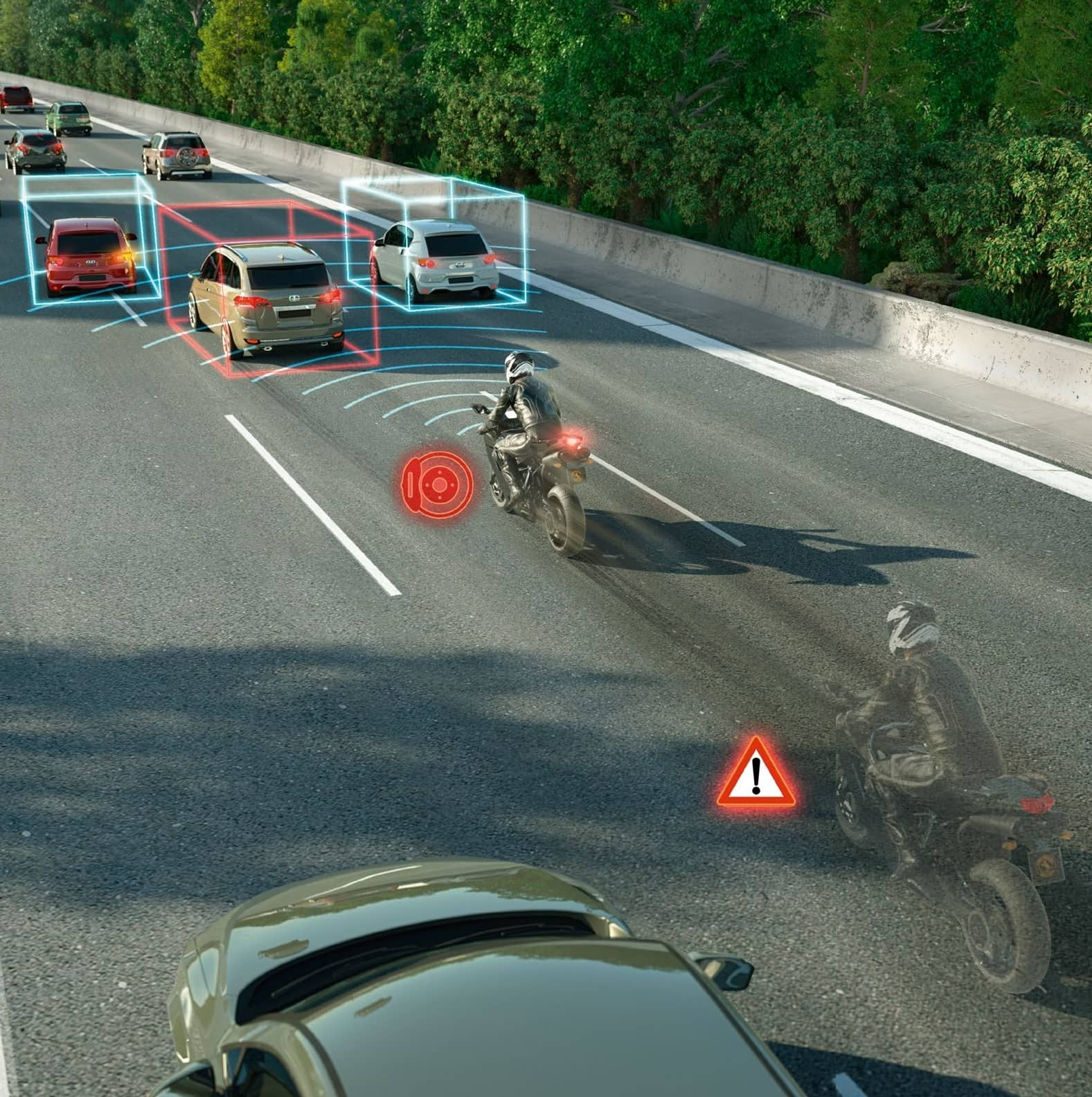 BETTER SAFETY WITH EMERGENCY BRAKE ASSIST FOR MOTORCYCLES