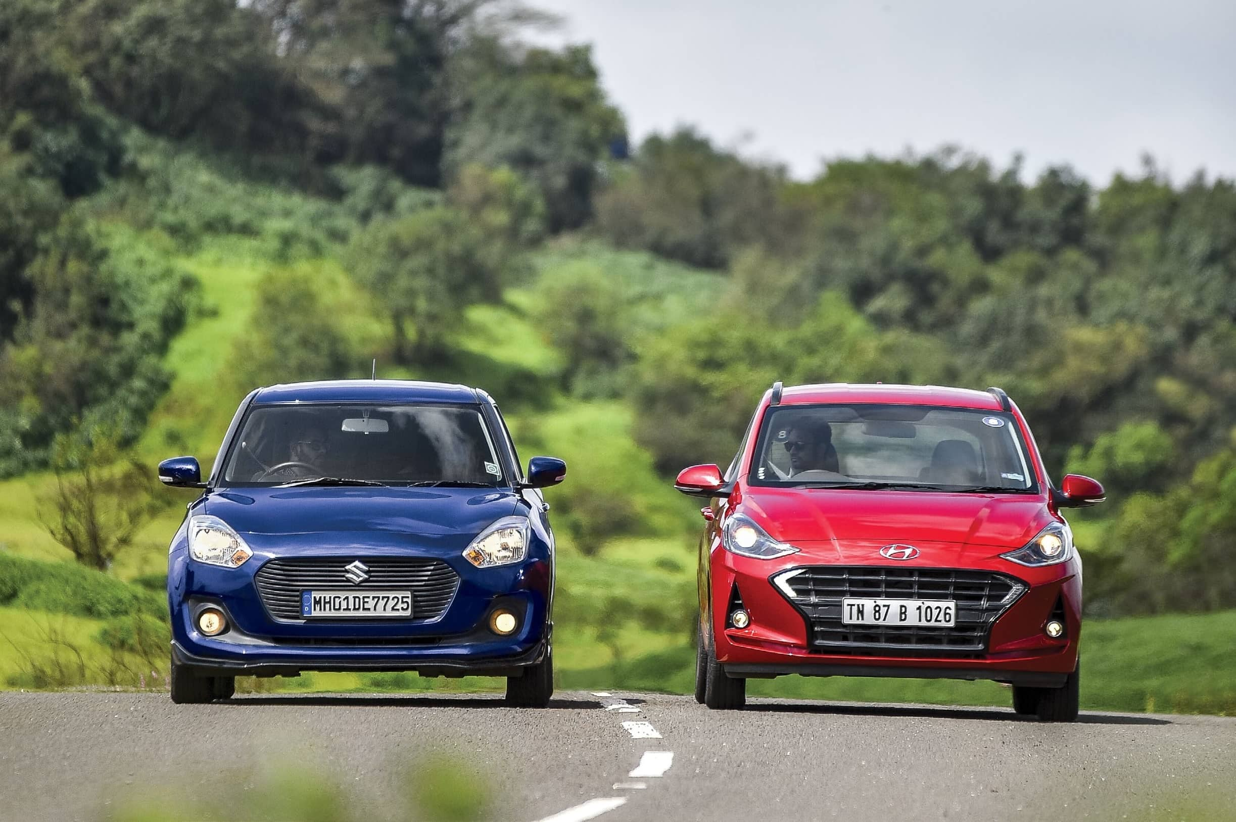 Hyundai Grand i10 Vs Maruti Swift AMT - Fun Size