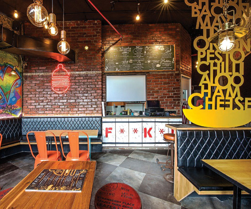 Charmant The Funky, Cosy Cafe Is Located On The First Floor Of The Haware Infotech  Building, Opposite Vashi Station. Needless To Say, The Idea Was To Stand  Out As ...