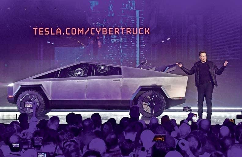 Tesla's E-Pickup Comes In Novel Angular Design