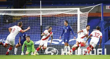 Sloppy Chelsea concede late for 3-3 draw with Southampton