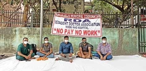 5 Resident Docs Of Hindu Rao Hosp Begin Hunger Strike