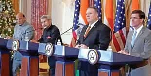 US Secy Of State Pompeo, Defence Secy Esper To Arrive In India Today