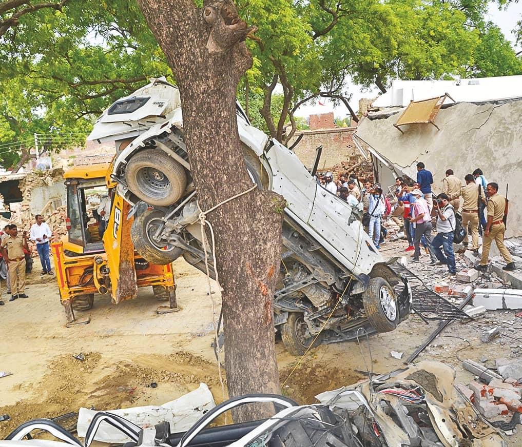 UP Gangster's House Demolished