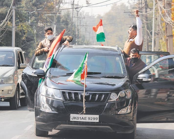 3 PDP Leaders Quit Over Mehbooba's Statement, BJP 'Flag March' Continues