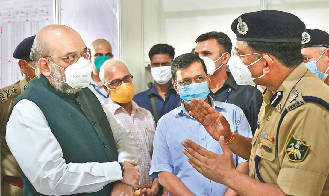 Shah, CM Take Stock Of Largest Covid Care Facility