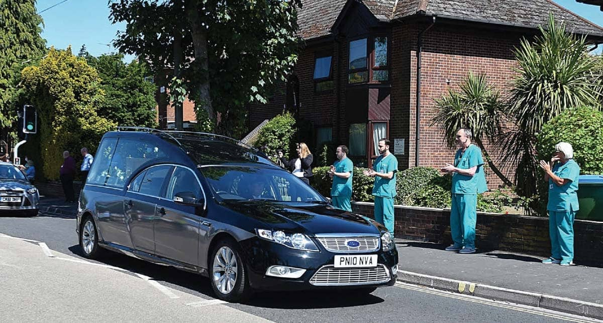 Farewell To Hospital Hero, Medics Join Hundreds In Streets For Salute To Porter