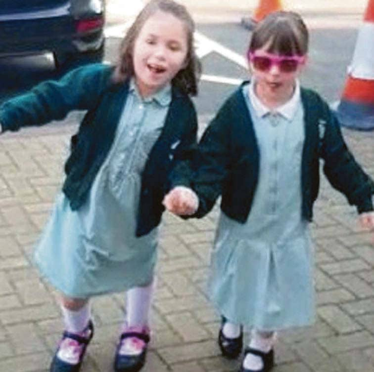 Girl, Six, Defies Medical Odd To Walk To School With Her Younger Sister