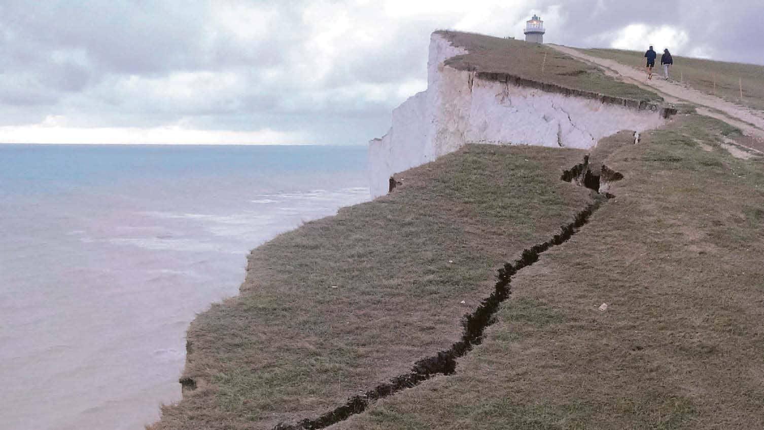 Mind The Gap...Cliff Splits Open