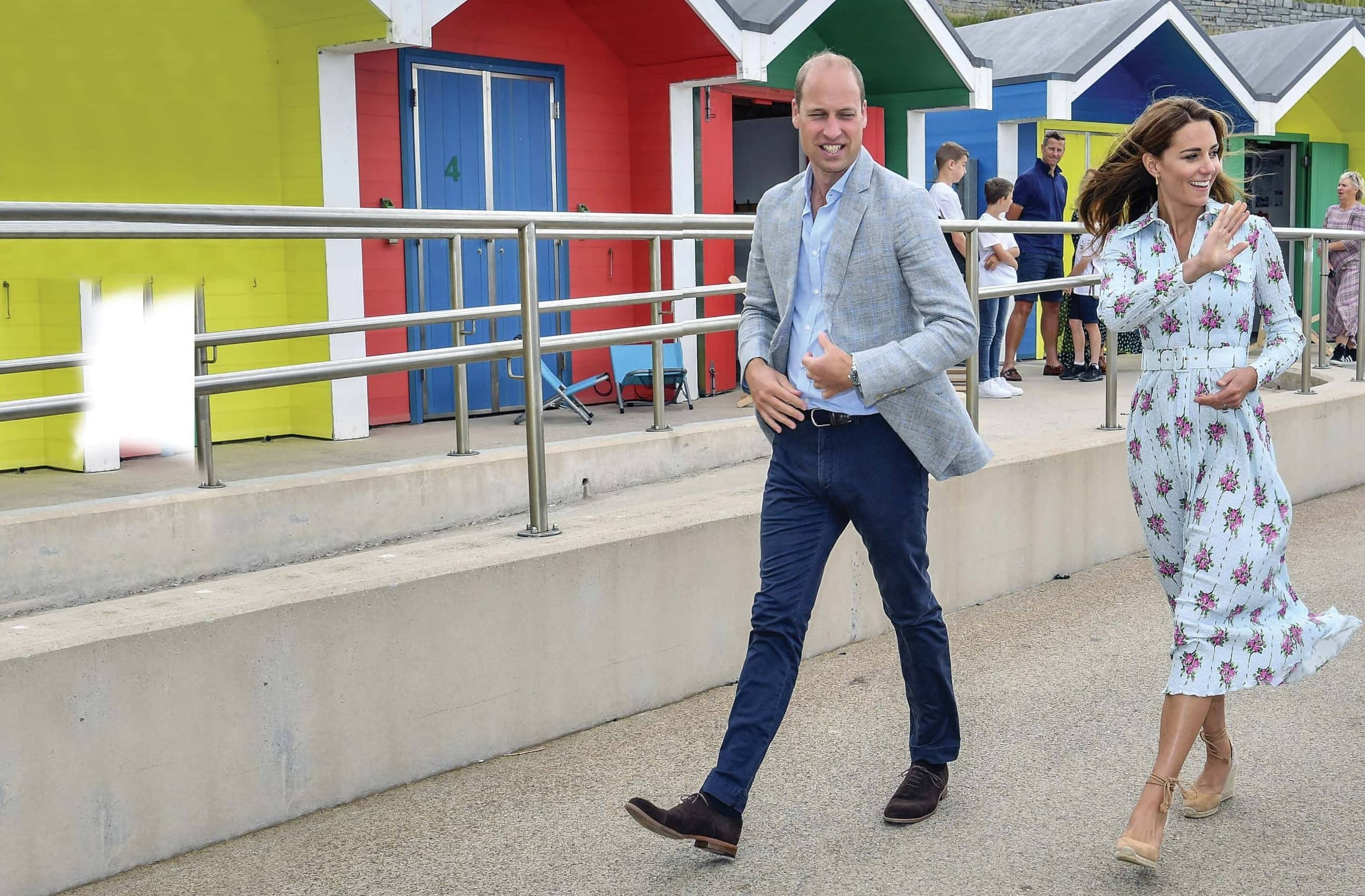 William And Kate Take A Trip To The Seaside