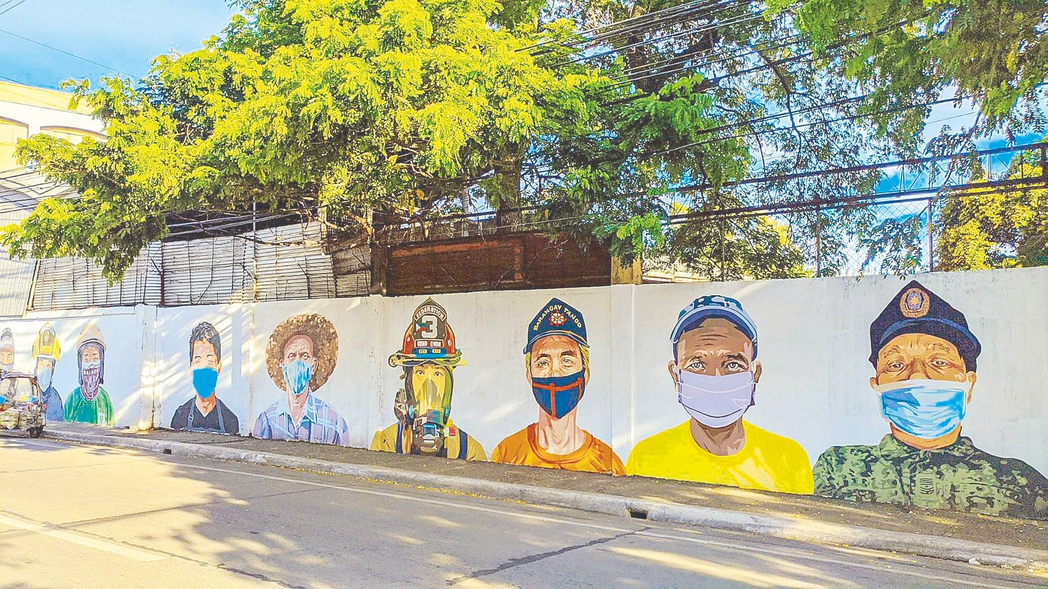 A Mural Pays Tribute To Iloilo City's Frontliners