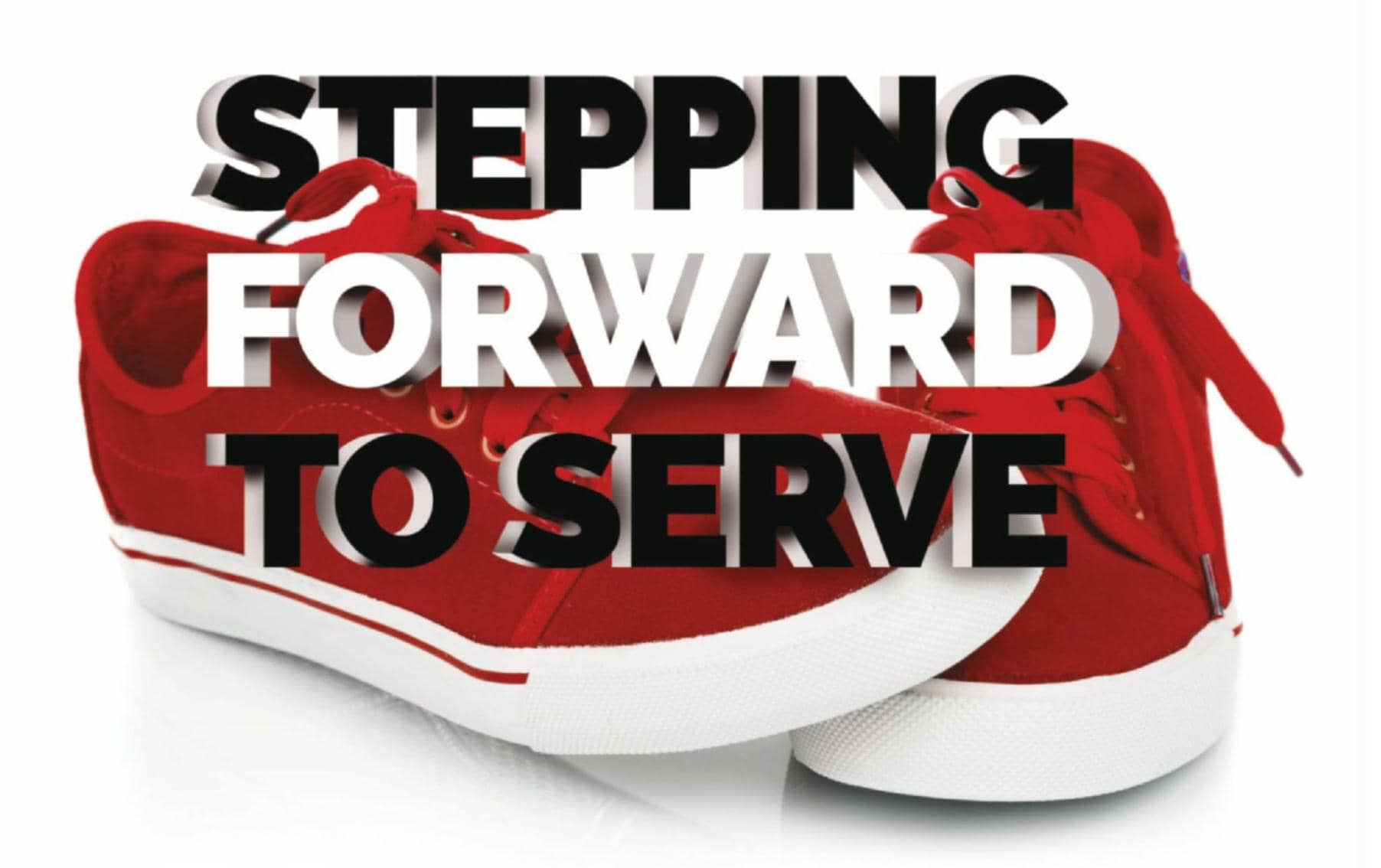 STEPPING FORWARD TO SERVE