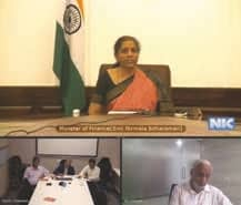 GJEPC Leadership represents Gem & Jewellery Industry concerns to Hon'ble FM through a Video Meet