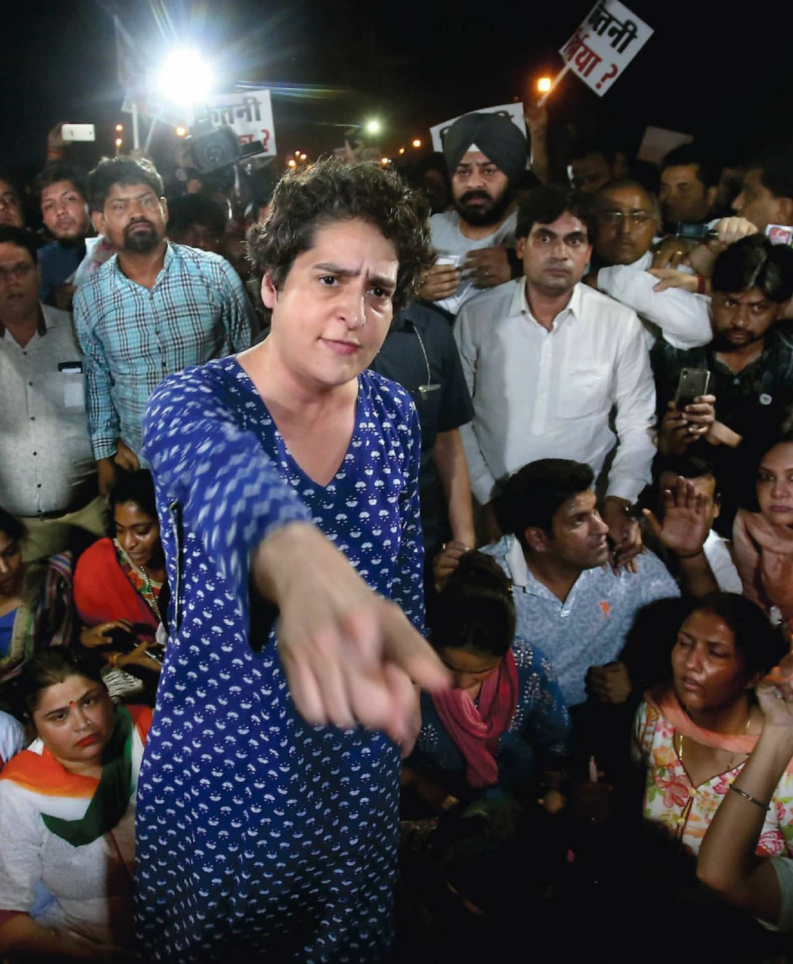 Congress- Priyanka Gandhi Takes Guard