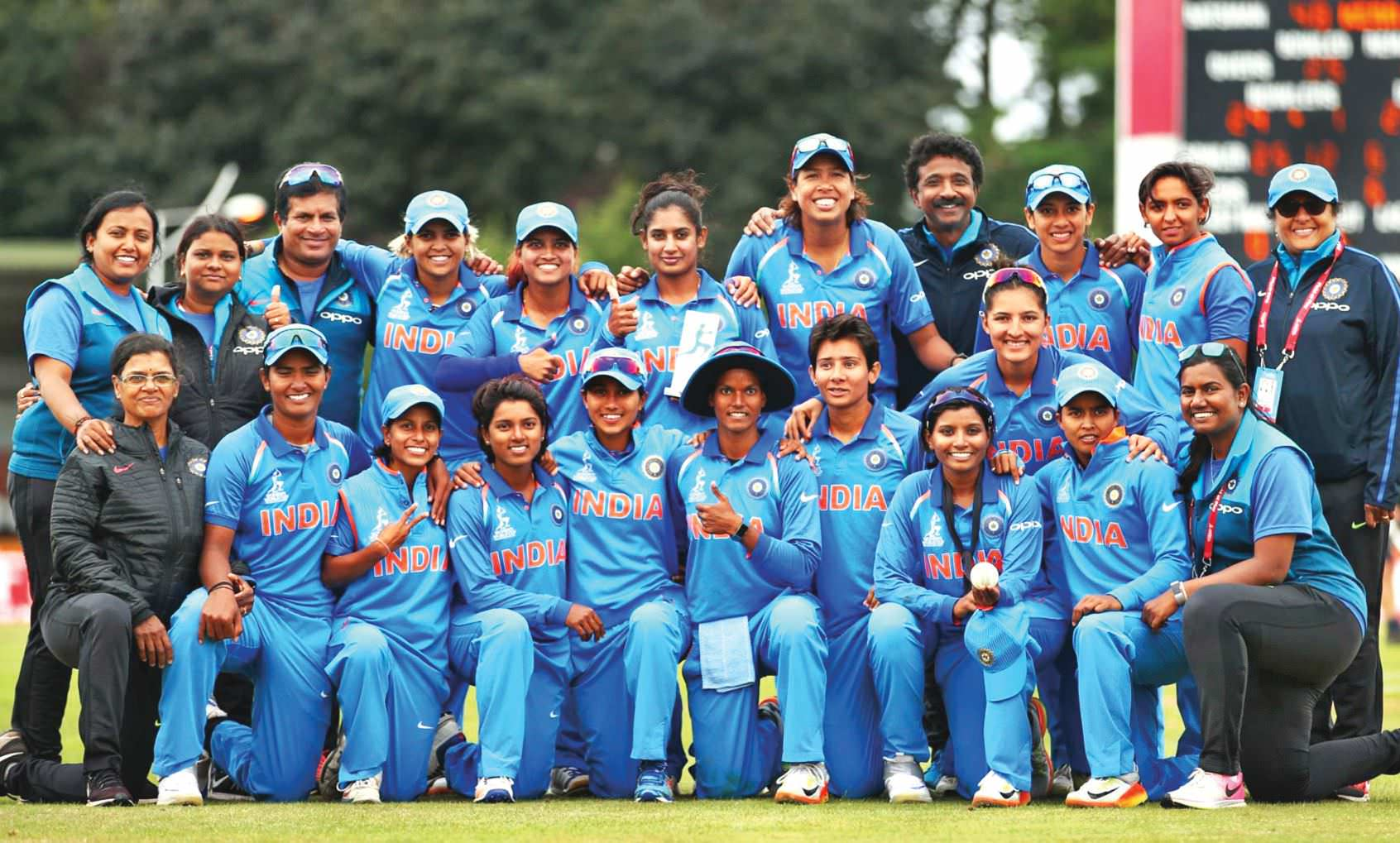 Women In Blue Strike And Not Out!