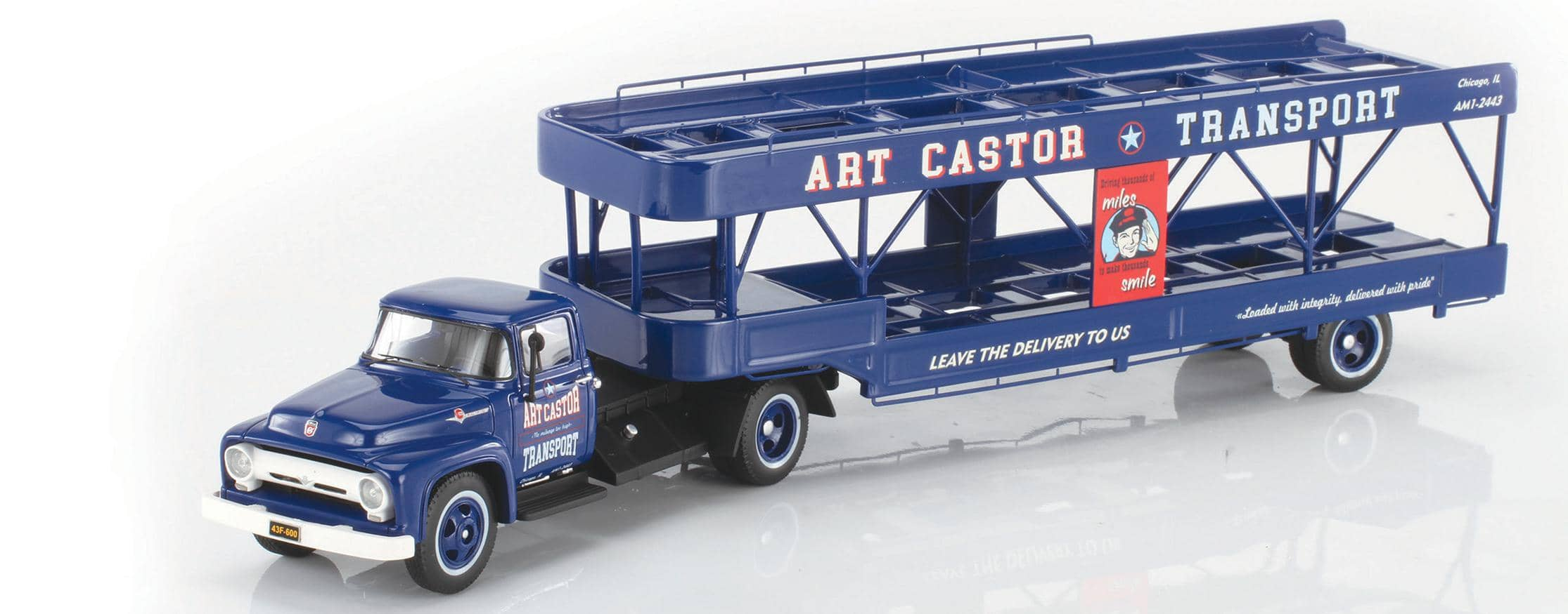 AUTOMODELLO ONE43 ART CASTOR 1956 FORD F600 WITH TRAILER