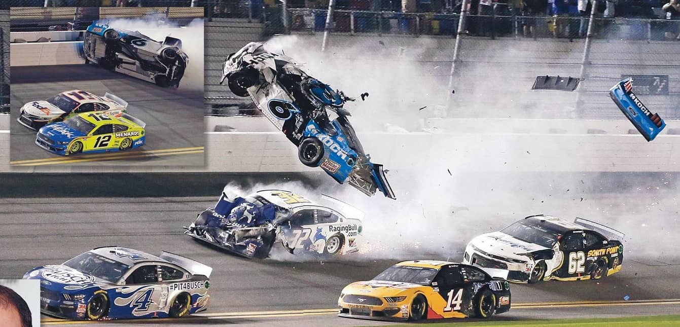 NASCAR STAR CHEATS DEATH AT 200 MPH!