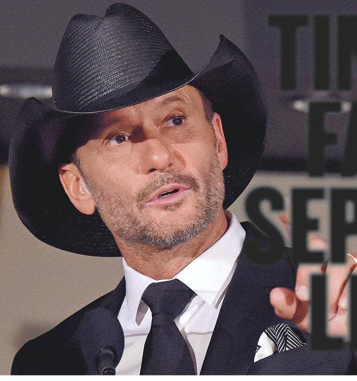 TIM AND FAITH: SEPARATE LIVES!